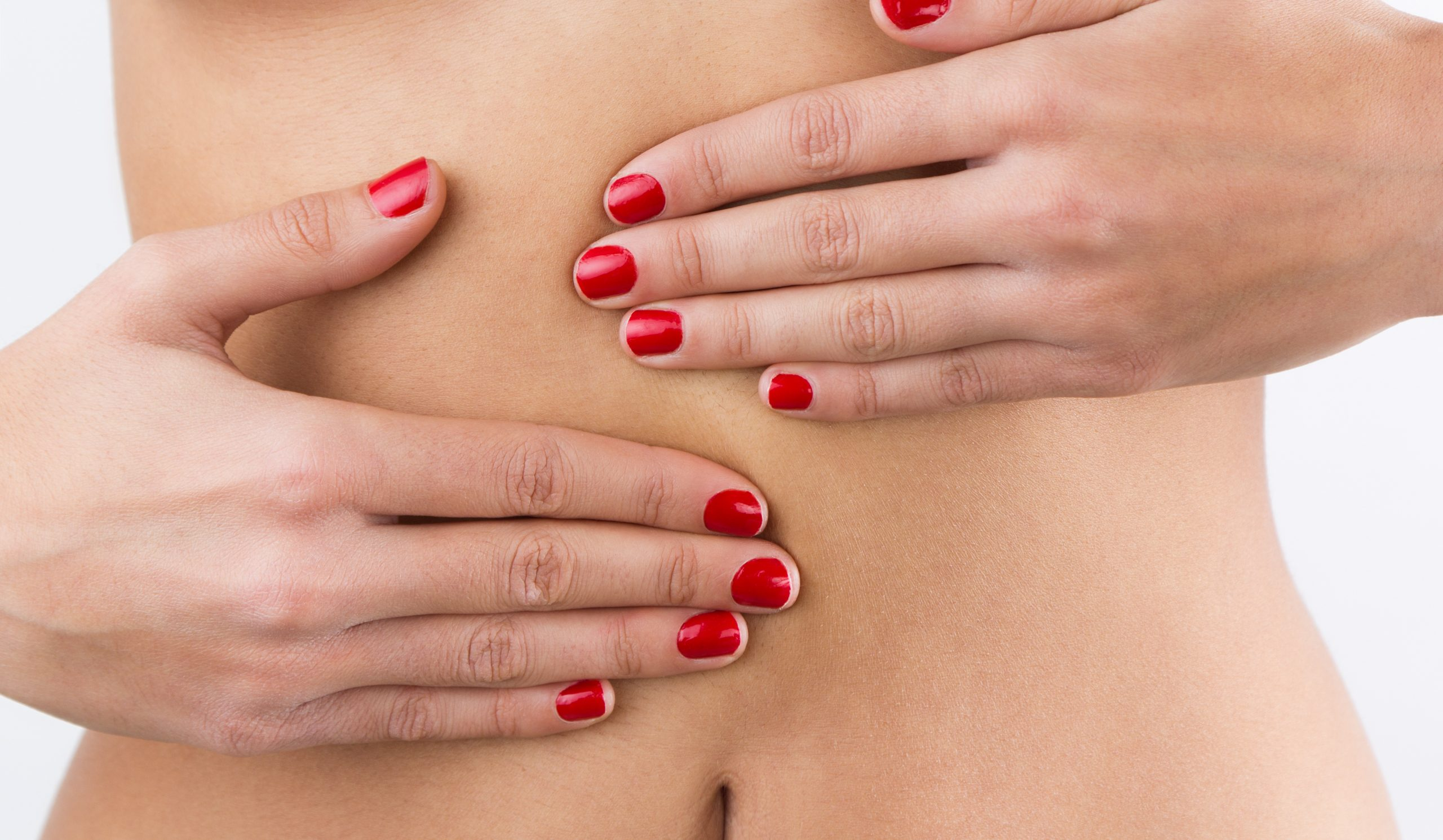 woman s hands belly isolated white background scaled